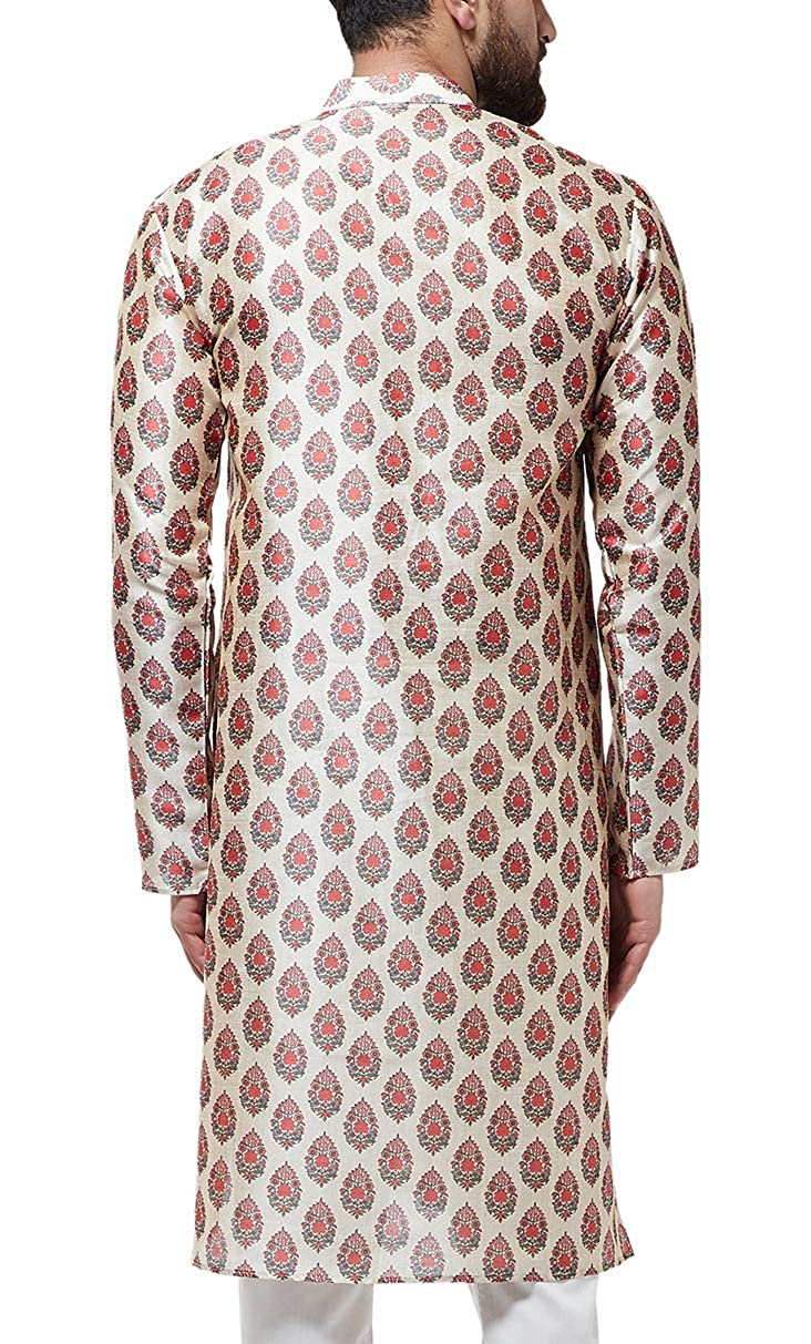 Festival-Men-Dupion-Silk-Kurta-Pajama-Ethnic-Party-Wear-Bollywood-Dress-Pyjama thumbnail 33