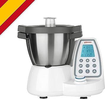 Yämmi Robot de Cocina Multifuncional, Capacidad Bruta de 4.8 l, 11 Funciones, Incluye 8 Accesorios, Potencia de 1500 W, Motor 500 W, Libro de Recetas en Español: Amazon.es: Hogar