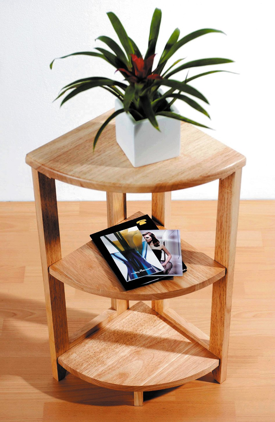 Marvelous 3 Tier Corner Shelf Unit Rubber Wood Home Furniture: Amazon.co.uk: Kitchen  U0026 Home