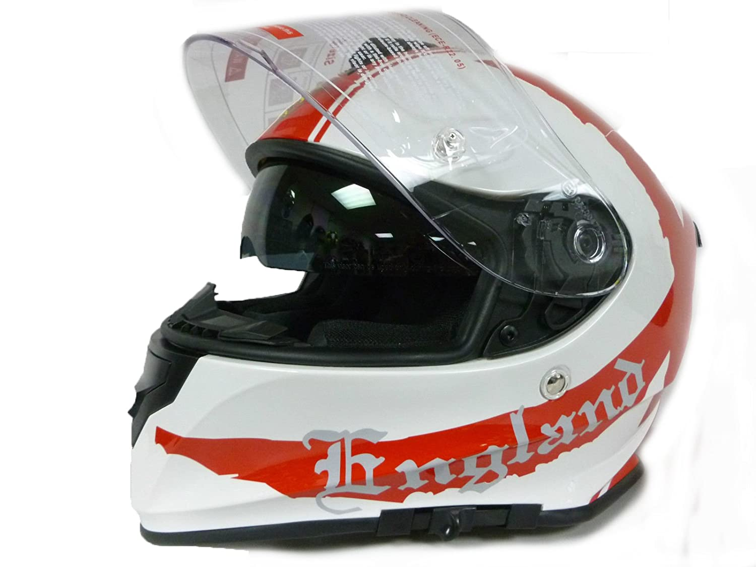 1630c67d Motorcycle helmet VCAN V127 ENGLAND Motorbike Scooter Full Face Crash  Racing Helmet, New 2016 (RED-L): Amazon.co.uk: Sports & Outdoors