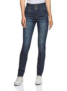 586d8b4b34117 oodji Ultra Femme Jean Skinny Taille Haute: Amazon.fr: Vêtements et ...