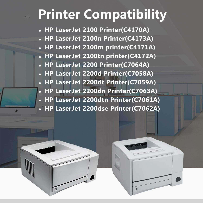 TopInk C7064A Toner Cartridge Replacement for HP Laserjet 2200 Printer-1 Pack