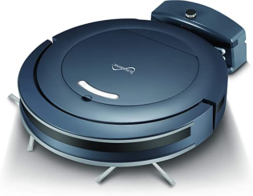 Amazon Com Supersonic Sc 860sv Thin Robot Vacuum Cleaner With Automatic Charging Dock