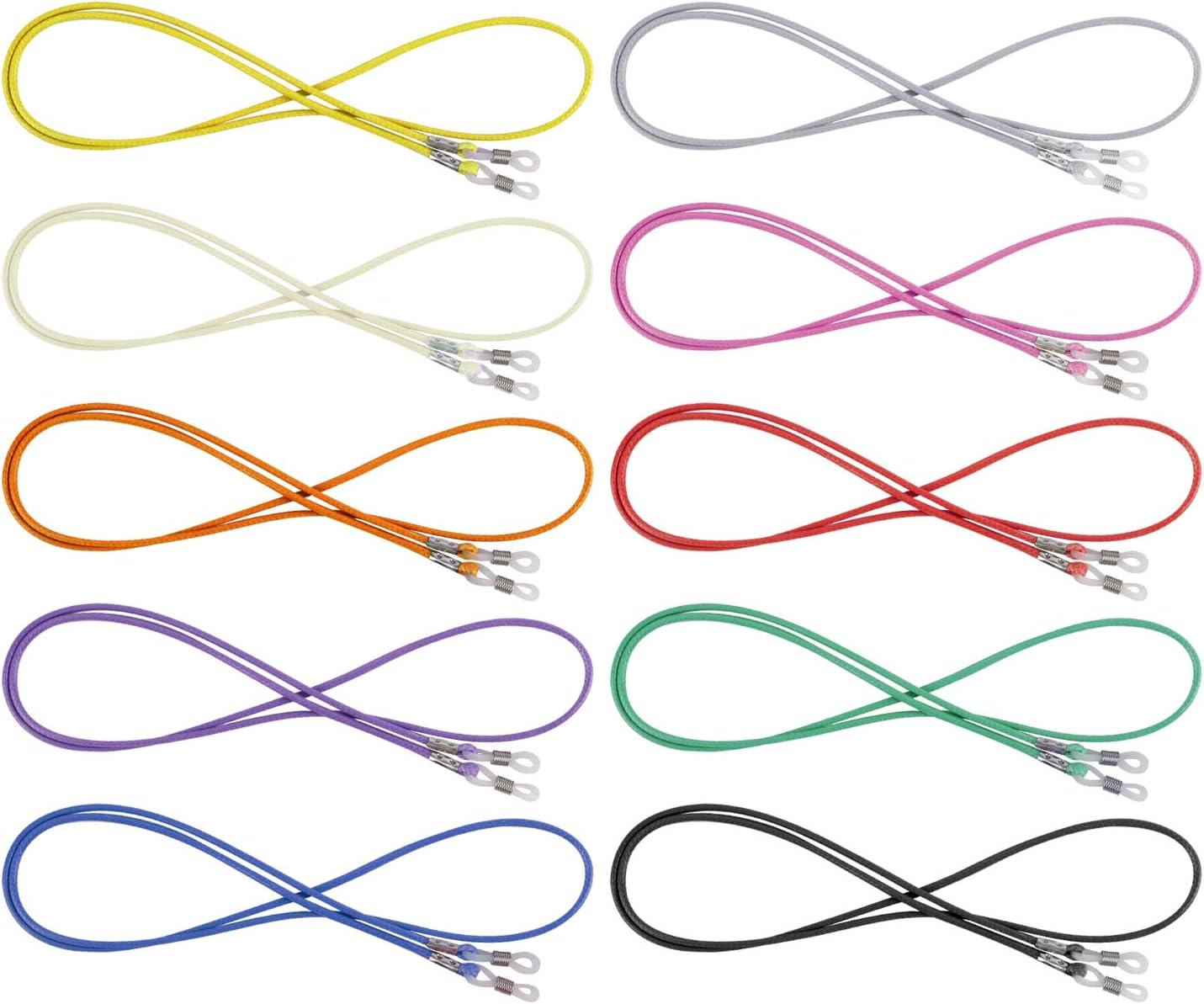 Sangle Corde Retenue /à Lunettes de Lecture pour Femmes Hommes Enfants Sport Hifot Cordon Lunettes 10 Pi/èces color/é Cha/îne Lunettes de Soleil