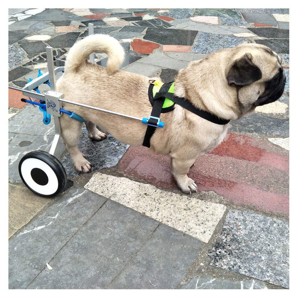ZLSD Remolque de Bicicleta para Perros, Silla de Ruedas para Mascotas, Ajuste multidireccional, Adecuado para Perros Grandes y pequeños, rehabilitación de ...