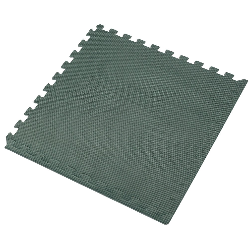 We Sell Mats Hunter Green 16 Sq Ft (4 Assorted Tiles + Borders) Foam Interlocking Anti-Fatigue Exercise Gym Floor Square Trade Show Tiles by We Sell Mats (Image #4)