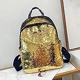 JPOQW Women Backpack Bag Sequin School Rucksack