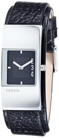 Damenuhren schwarz fossil  Fossil Damen-Armbanduhr Fuel Trend Leder Schwarz JR9674: Fossil ...