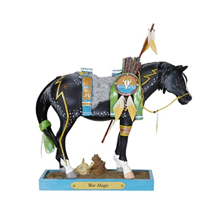 Enesco Trail of Painted Ponies War Magic, 7.8 Stone Resin Figurine, 7.8 Inches, Multicolor