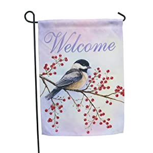 LAYOER Home Garden Flag 13 x 18 Inch House Double Sided Welcome 12 x 18 Inch (Bird Welcome)