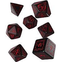 Elvish Dice Set Black/Red