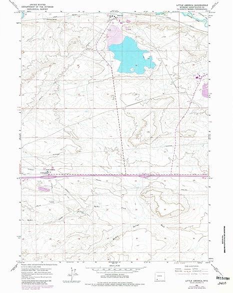 Little America Wyoming Map.Amazon Com Yellowmaps Little America Wy Topo Map 1 24000 Scale