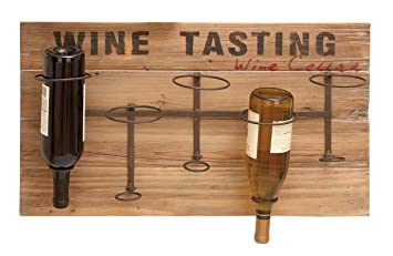 wine tasting upsidedown 5bottle wine wall dcor