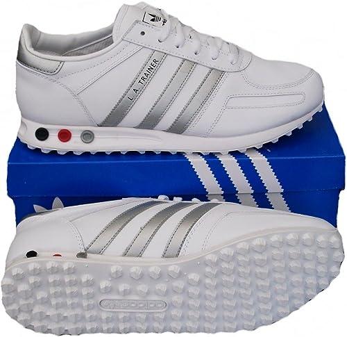 adidas trainer bianche e blu