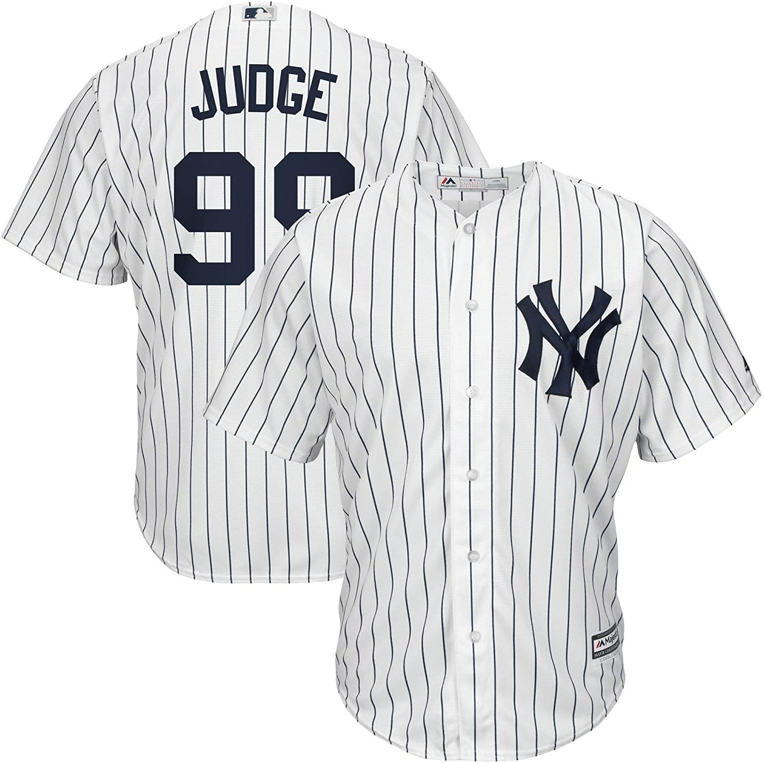 MLB New York Yankees Majestic Cool Base Home Jersey Shirt Top Youth Kids
