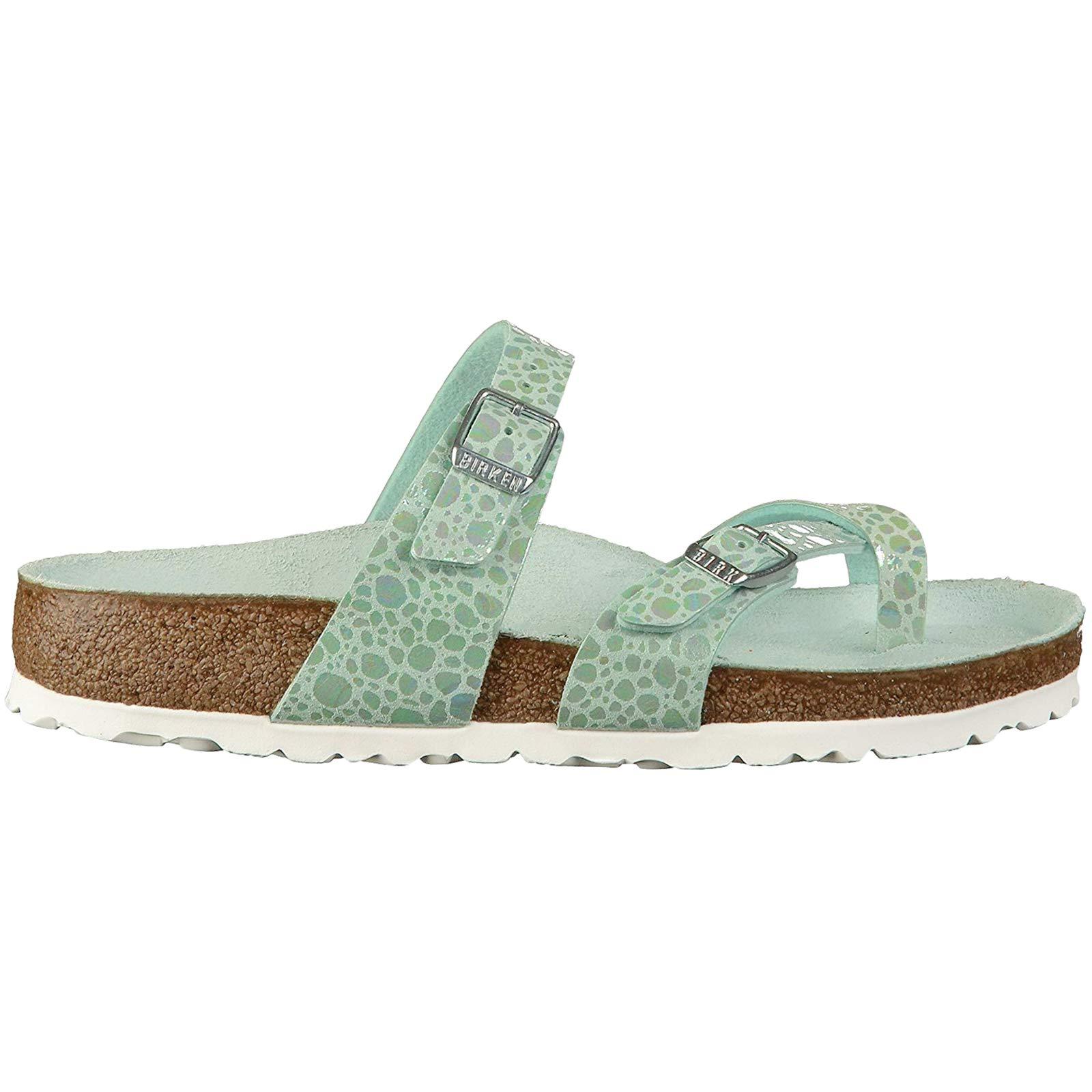 Birkenstock Unisex Mayari Birko-Flor Aqua Sandals 7 W / 5 M US by Birkenstock (Image #1)