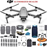 DJI Mavic 2 PRO Drone Quadcopter Fly More Combo with 3 Batteries with Hasselblad Camera HDR Video UAV Adjustable Aperture Bundle Kit with Must Have Accessories