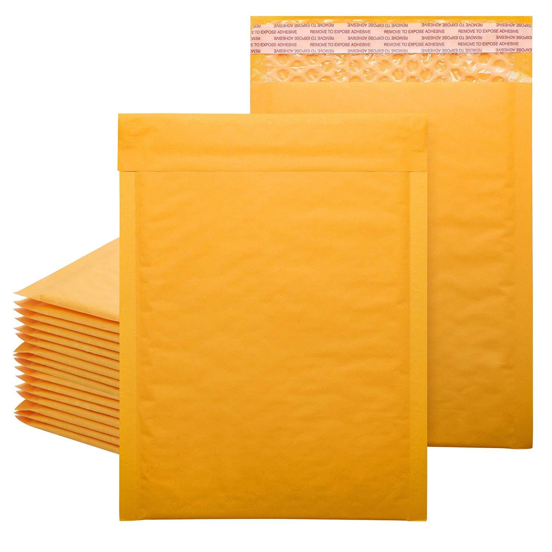 Sobres de burbuja 15 x 25.5 cm (Pack de 50, amarillo)