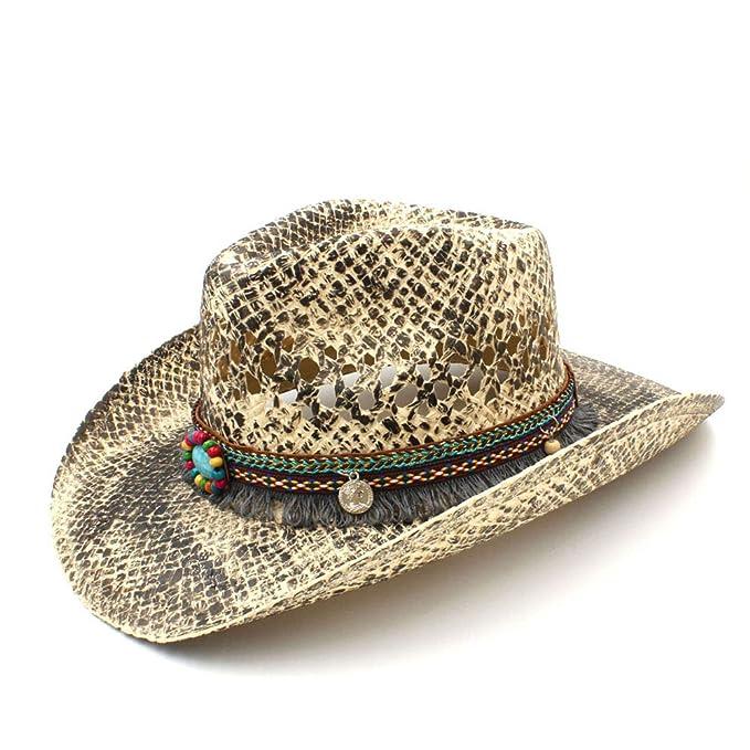 76e0e82bf8f GeorgeB- Straw Hats Western Cowboy Hat for Women Men