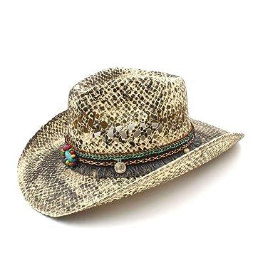 Sun hats Hat- Mujeres Hombres Paja Occidental Vaquero Sombreros Verano Hecho  a Mano de la 2d42620f202