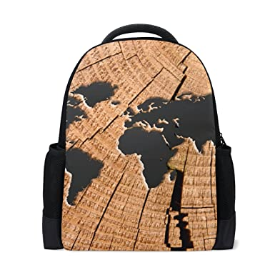 Amazon Com Imobaby Personalized Old World Map Backpack Daypack