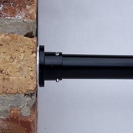RoomDividersNow Premium Tension Curtain Rod 80in 120in Black