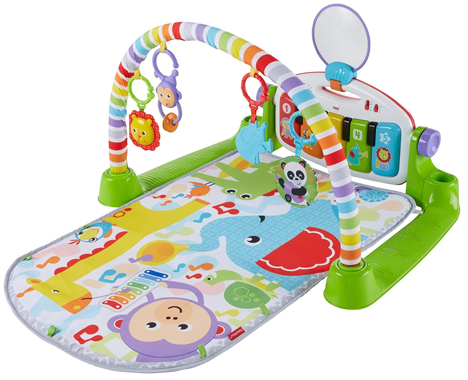 Pink Fisher-Price Deluxe Kick /& Play Piano Gym