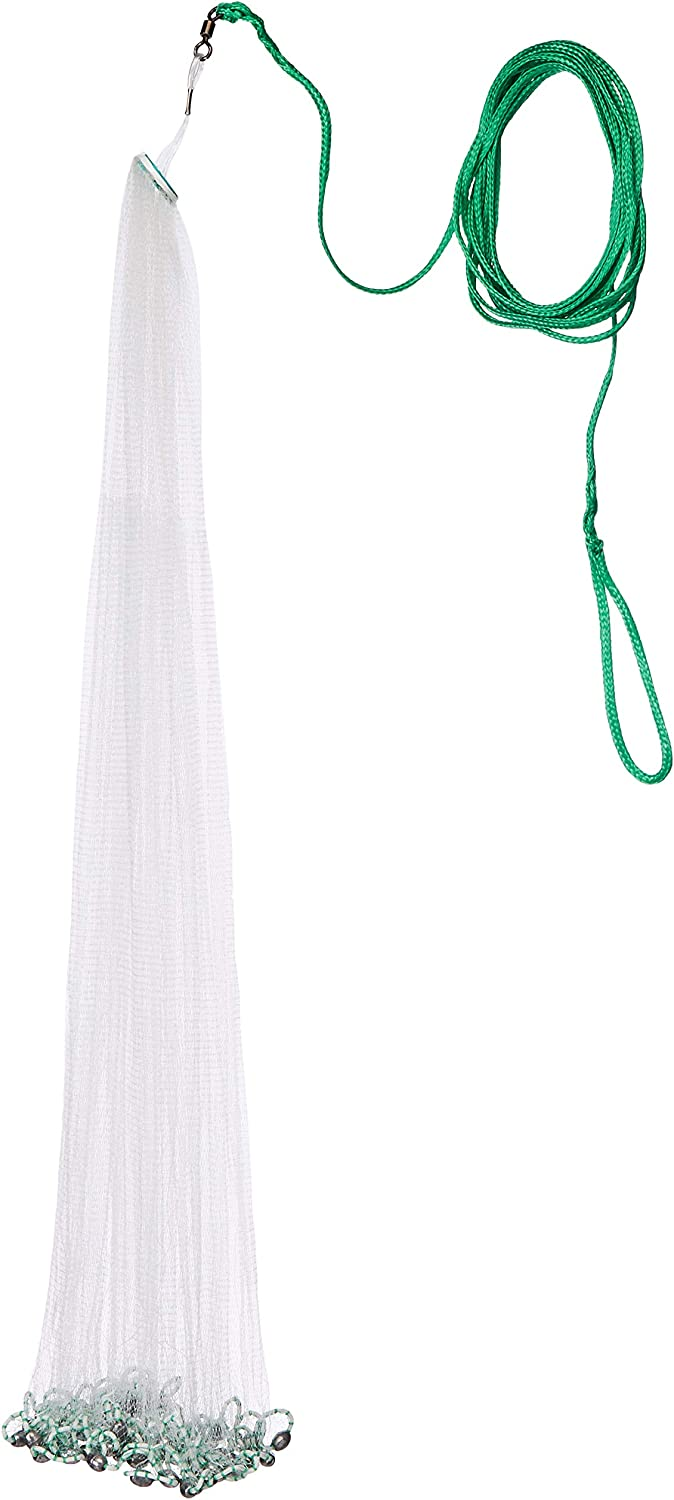 Betts 4-Foot Mono Bait Cast Net with Lead Weight and 1/4-Inch Mesh