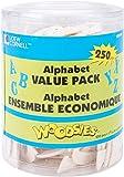 Simply Art Wood Alphabet Value Pack 250 ct.