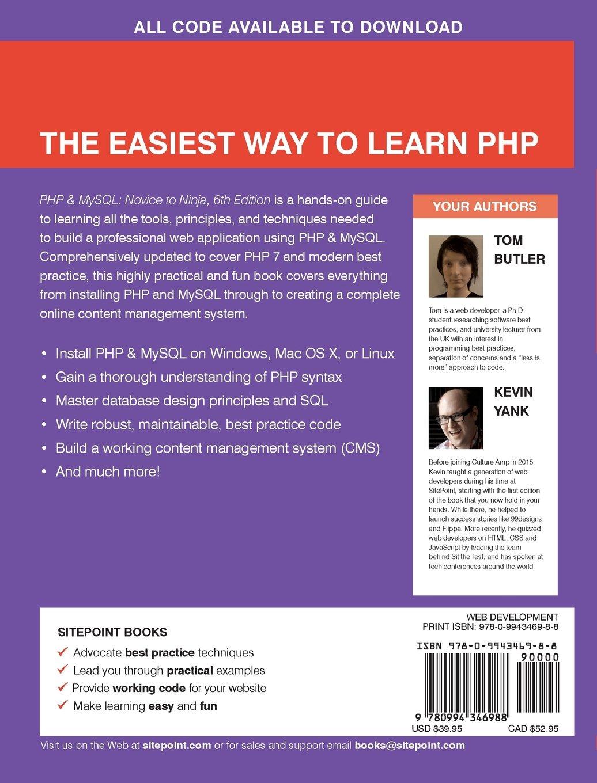 PHP & MySQL: Novice to Ninja: Amazon.es: Tom Butler, Kevin ...