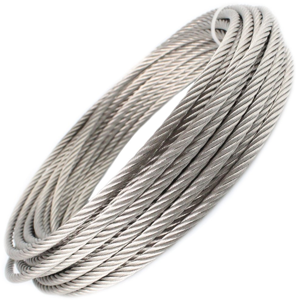 A4 stainless steel wire rope, 7 x 7, medium soft, 5 m D´s Items