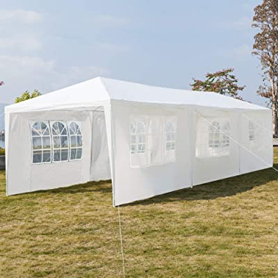 Seven Sides Portable Waterproof Gazebo Tent with Spiral Tubes : Garden & Outdoor
