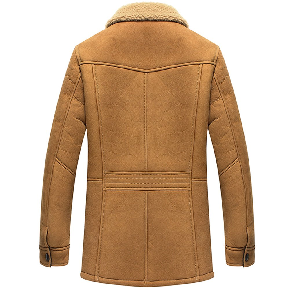 eb3729baa Cwmalls Men's Sheepskin Shearling Jacket Coat Patent Design CW890056 ...