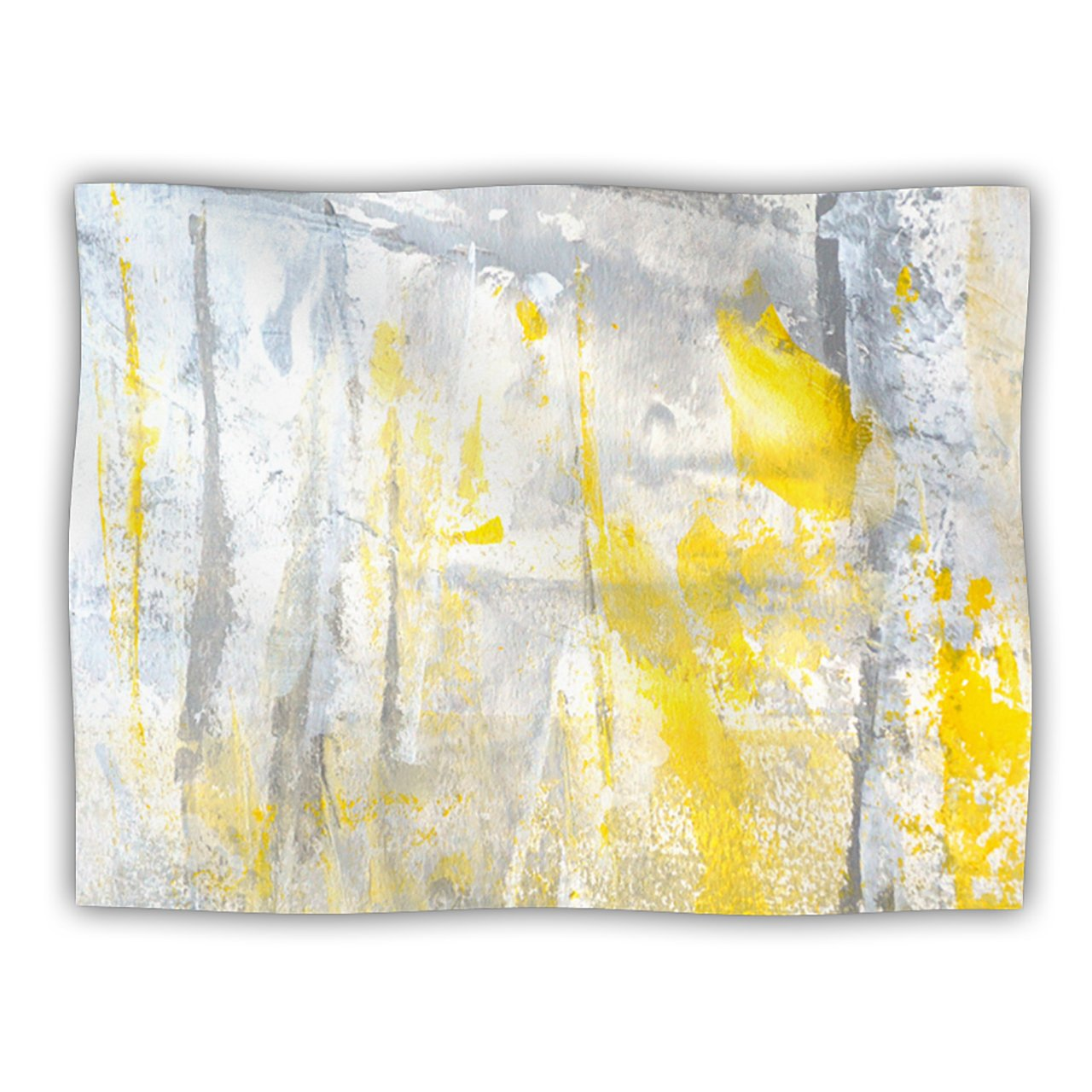 Kess InHouse CarolLynn TICE Abstraction  Grey Yellow Pet Blanket, 40 by 30-Inch