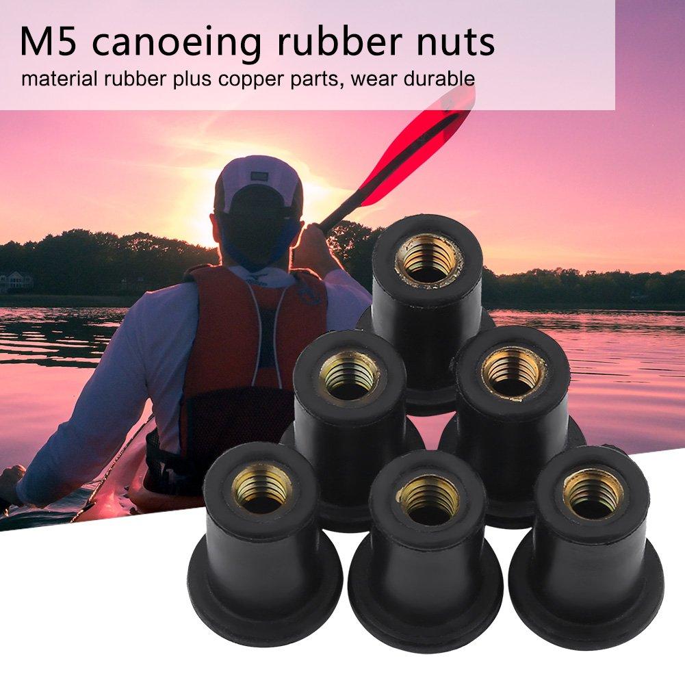 6Pcs Tuercas M4 M5 M6 de Kayak Accesorios para Barcos Canoa