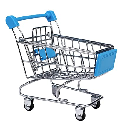 Buy Imported Mini Shopping Cart Trolley Toy Sky Blue Online at Low