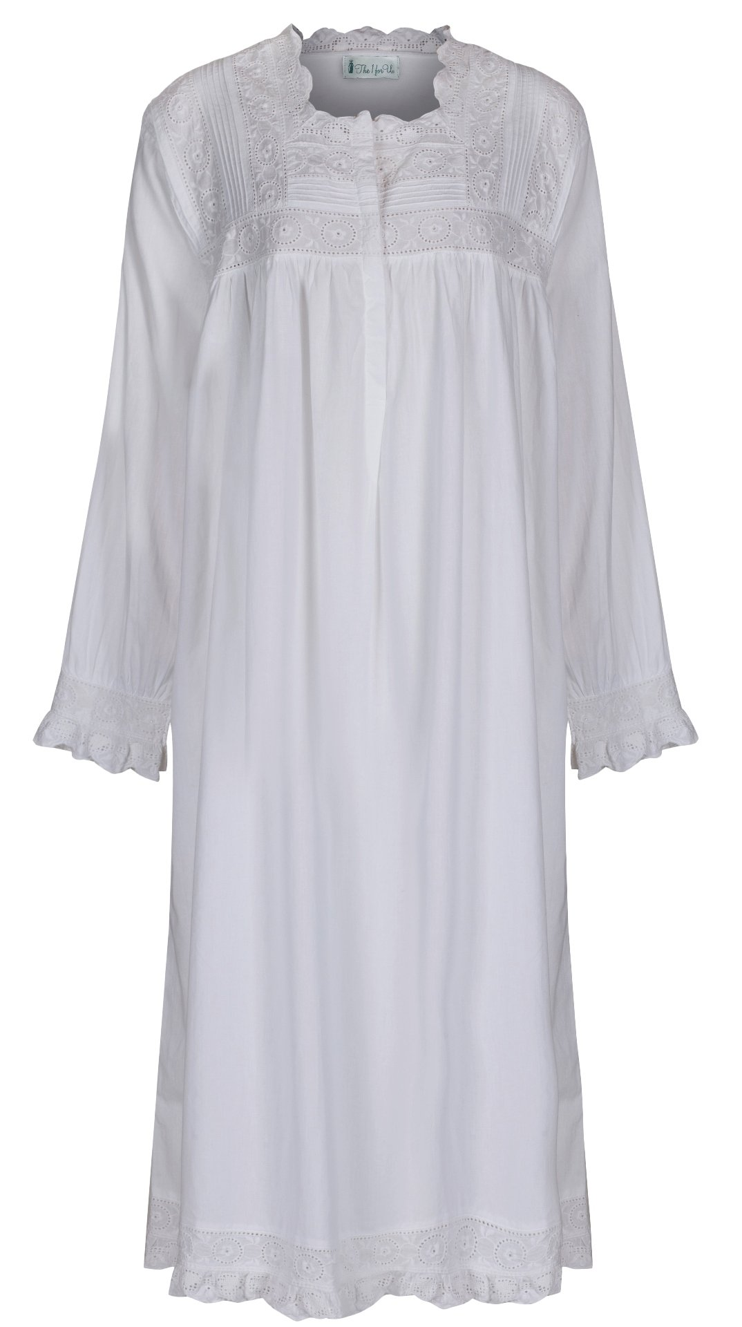 The 1 for U 100% Cotton Praire Style Nightgown Pockets - Henrietta- XXS - XXXL (Medium)