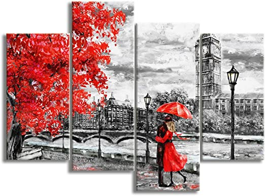 London Big Ben Snowy Canvas Wall Art Pictures For Modern Art Canvas