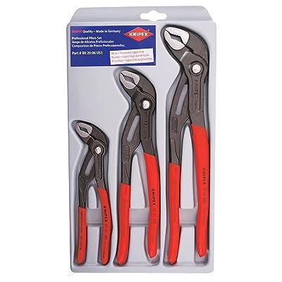 KNIPEX Tools - 3 Piece Cobra Pliers Set (7, 10, 12) (002006US1)