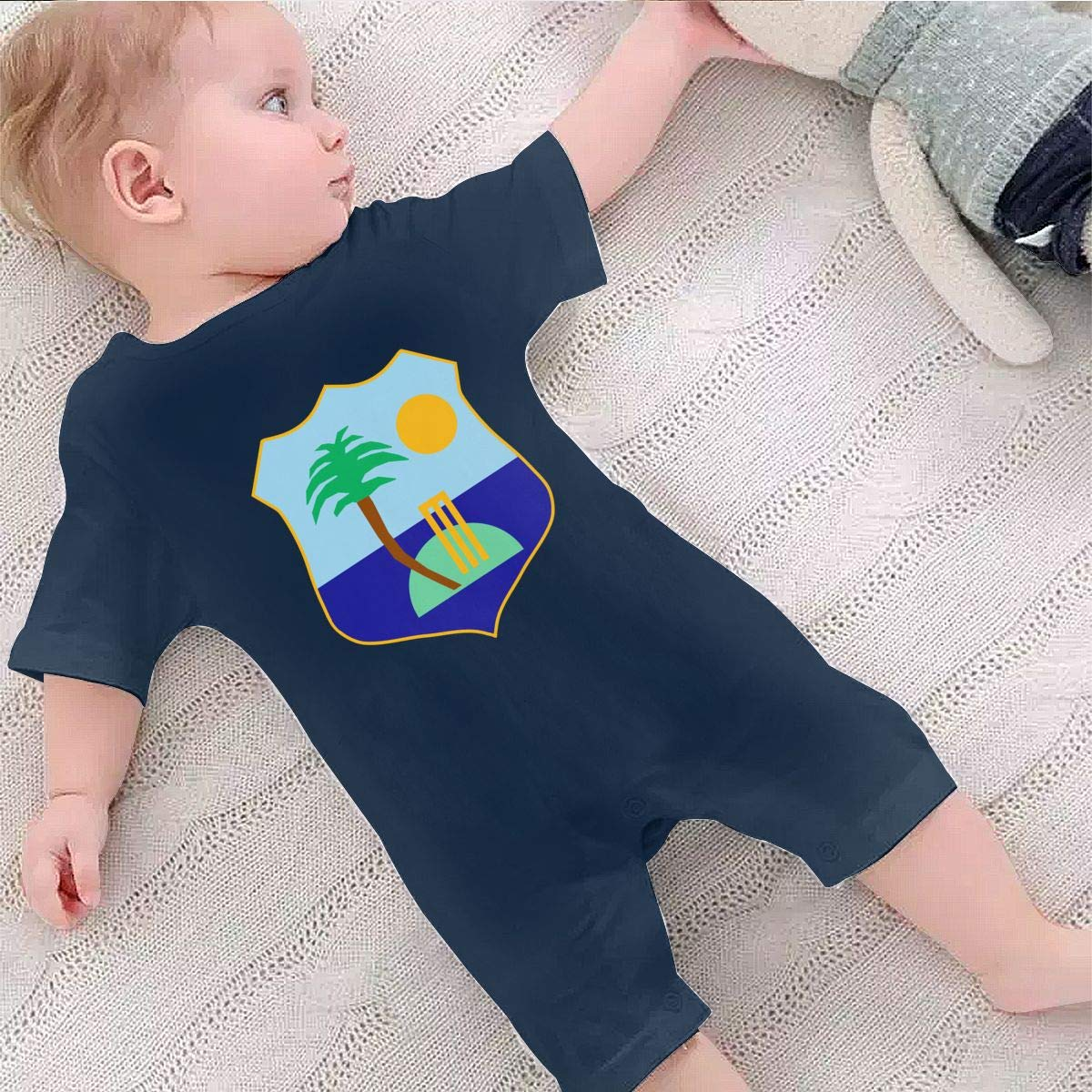 West Indies Cricket Board Flag Baby Boys Girls Romper Bodysuit Infant Funny Jumpsuit Outfit 0-2T