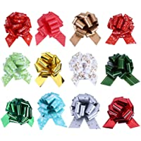 grandes boucles de ruban couleurs assorties pull facile fleur ruban décorations pour fêtes 50