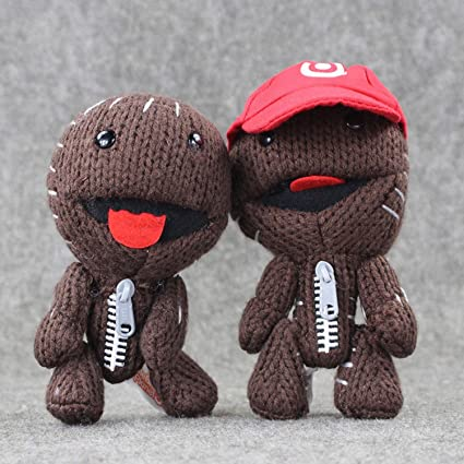 JEWH Little Big Planet Plush Toy - Sackboy Cuddly Knitted Stuffed Doll - Figure Toys Kids