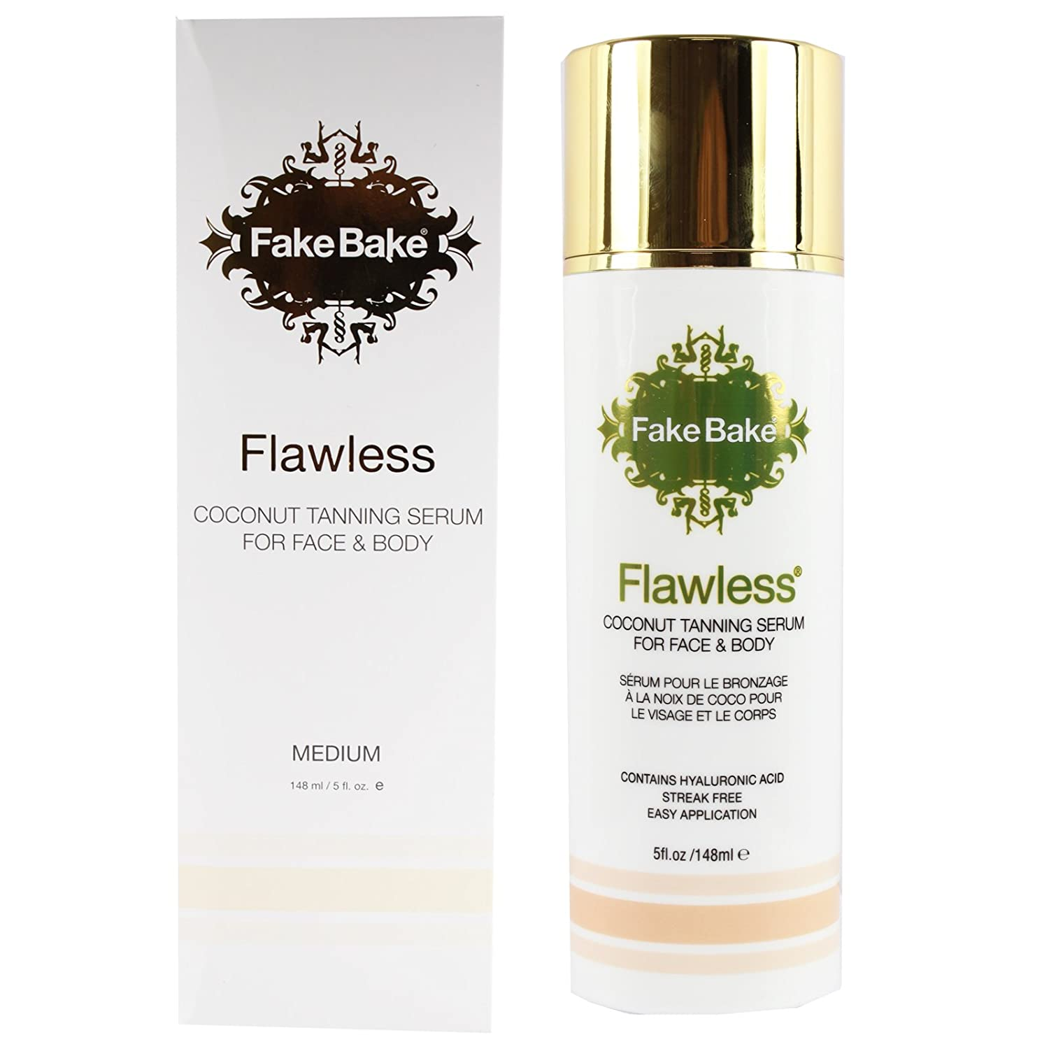 Fake Bake Flawless Coconut Tanning Serum for Face & Body, 148 ml / 5 oz-Pack of 6 Sense of Care Animal Cutie Mask Pack Anti-Aging Horse Oil (10 Sheets) 0.85fl.oz/25.1ml
