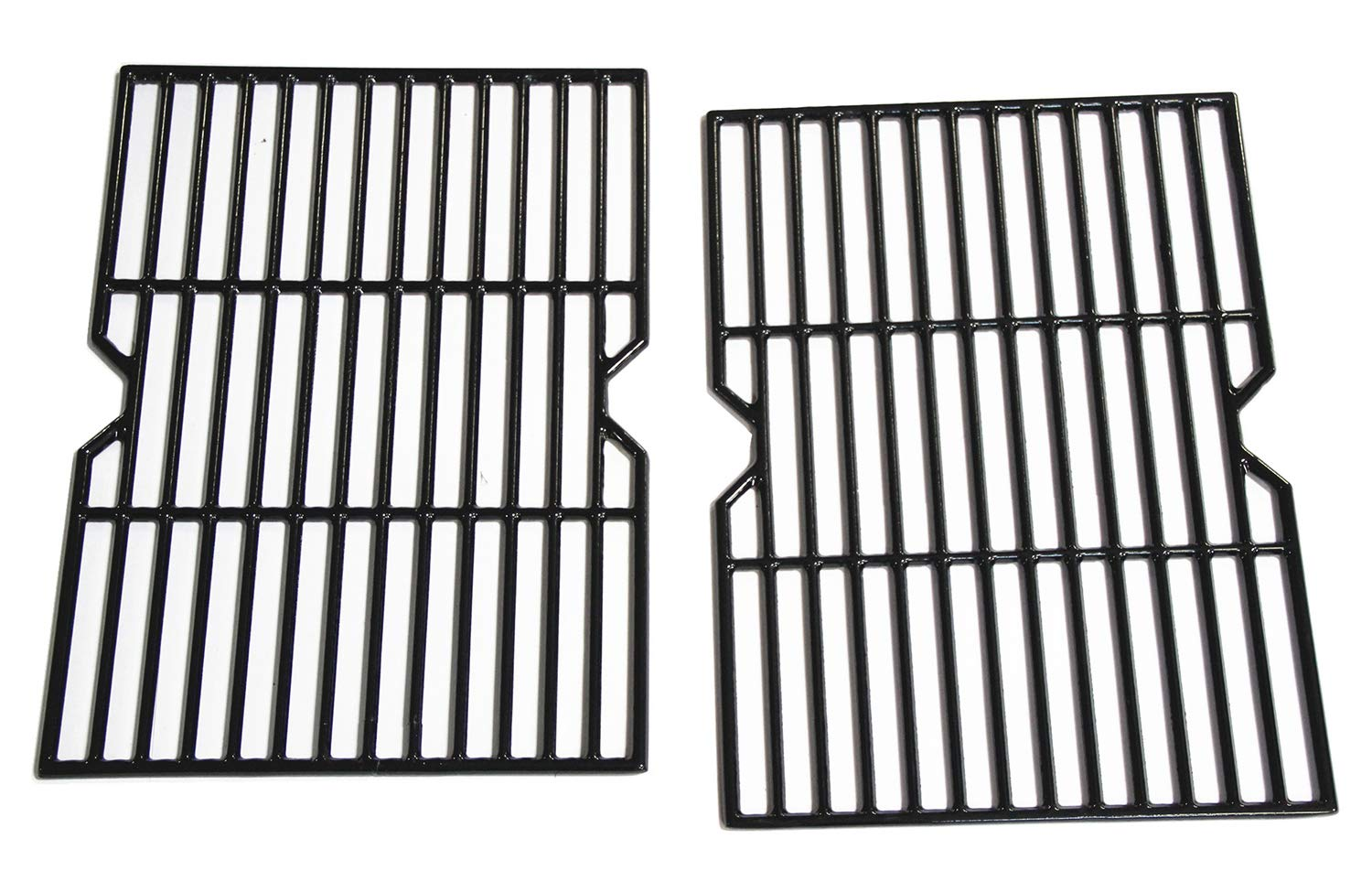 Hongso Porcelain Coated Cast Iron Cooking Grid Grate Replacement Parts for Grill Master 720-0737, Grill Chef, Nexgrill Gas Grill Models, 17 1/8 x 24 7/8 inches BBQ Grill Grates, Set of 2 (PCF162) by Hongso