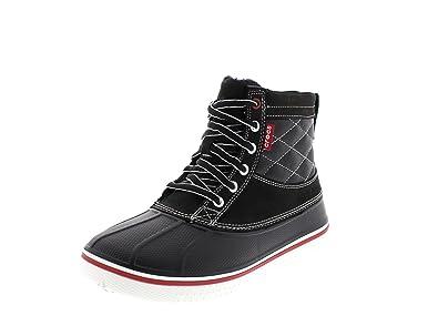 1674998350ae Crocs Shoes - AllCast Duck Boot - Black White