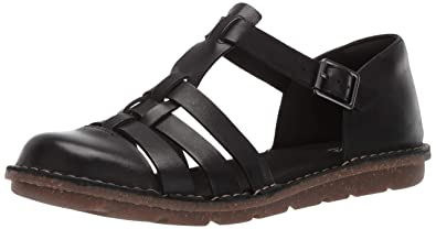 d36dc2f89190 CLARKS Women s Blake Moss Fisherman Sandal Black Leather 050 ...