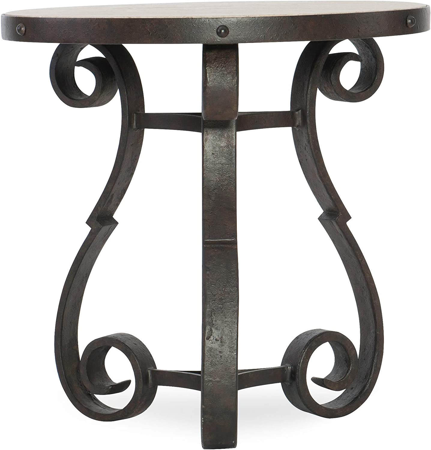 Hooker Furniture Hill Country Luckenbach Metal and Stone End Table