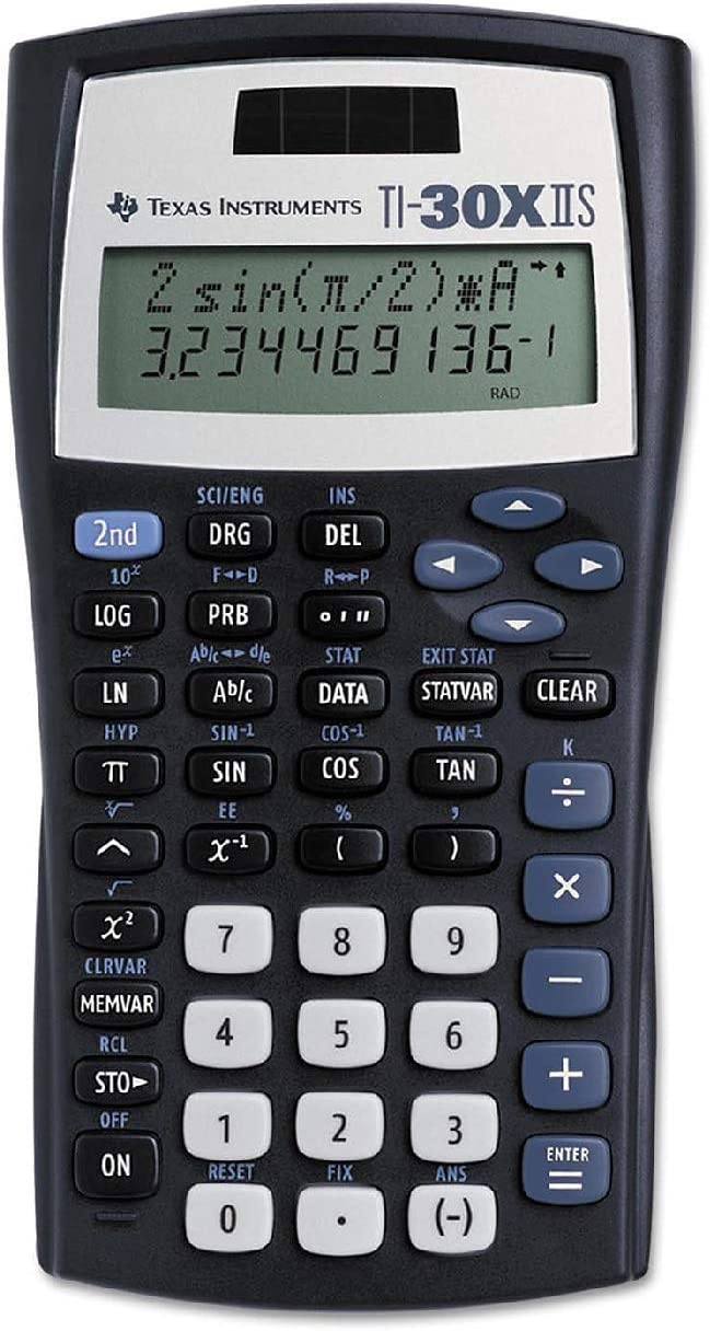 (6 Pack Value Bundle) TEXTI30XIIS TI-30X IIS Scientific Calculator, 10-Digit LCD 715z03Uq62BLSL1500_