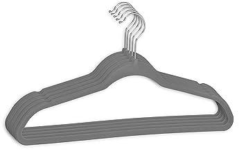Kleiderbügel Beflockt 10 100 stück menge wählbar 10 stk kleiderbügel grau aus