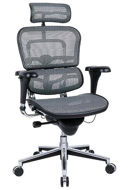 amazon com ergohuman high back executive chair with headrest grey
